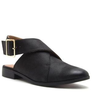 Qupid Shoes - Buckle Wrap Flats